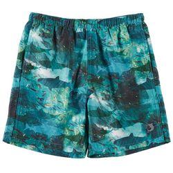 Reel Legends Little Boys Shark Circle Swim Shorts