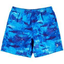 Reel Legends Little Boys Jawsome Swim Shorts