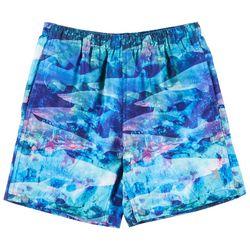 Reel Legends Little Boys Translucent Tiburon Swim Shorts