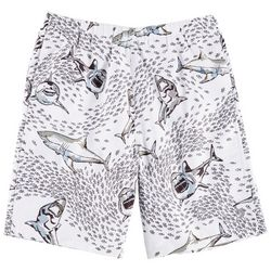 Reel Legends Big Boys Shark Bite Swim Shorts
