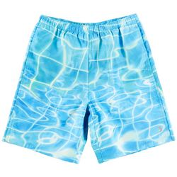 Reel Legends Big Boys Water Plaid Swim Shorts
