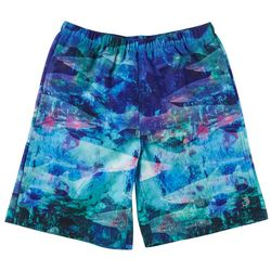 Reel Legends Big Boys Translucent Tiburon Swim Shorts