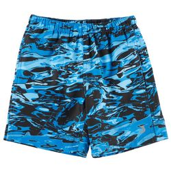 Reel Legends Little Boys Aqua Camo Swim Shorts