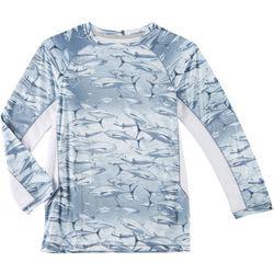 Reel Legends Little Boys Reel-Tec Swimming Tuna T-Shirt