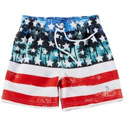 Reel Legends Little Boys Floricana Swim Shorts