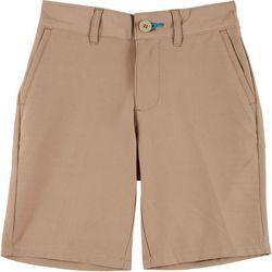 Reel Legends Little Boys Solid Dyed Hybrid Shorts