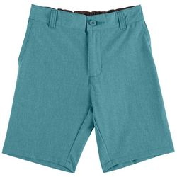 Reel Legends Little Boys Solid Dyed Hybrid Shorts