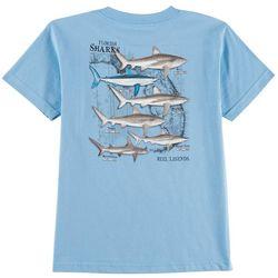 Reel Legends Big Boys Florida Sharks Crew T-Shirt