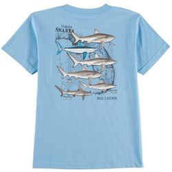 Reel Legends Big Boys Florida Sharks Crew T-Shirt