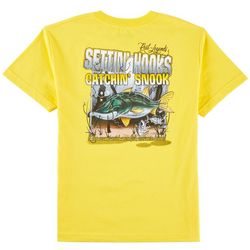 Reel Legends Big Boys Settin' Hooks Catchin' Snook T-Shirt
