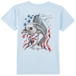 Reel Legends Big Boys Fishbones Flag T-Shirt