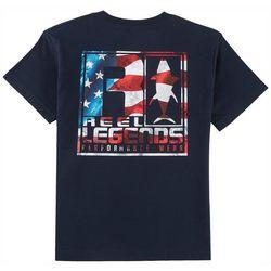 Reel Legends Big Boys Flag T-Shirt