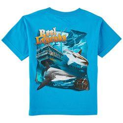 Reel Legends Little Boys Pirate Ship Sharks T-Shirt