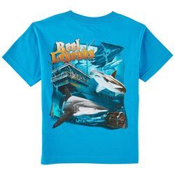 Reel Legends Little Boys Pirate Ship Sharks T-Shirt