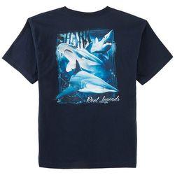 Reel Legends Big Boys Shark Compass T-Shirt