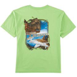 Reel Legends Big Boys Pirate Ship Hammerhead T-Shirt