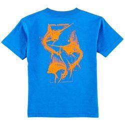 Reel Legends Little Boys Fish Bones Short Sleeve T-Shirt
