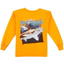 Reel Legends Little Boys Photo Shark Long Sleeve T-Shirt