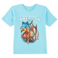 Reel Legends Little Boys Patriotic Fish T-Shirt