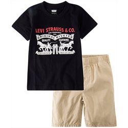 Levi's Little Boys 2-pc. Horse Pull Shorts Set