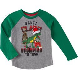 Seven Oaks Little Boys Santa Claws Long Sleeve T-Shirt