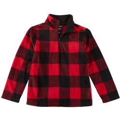 French Toast Little Boys Plaid Fleece Jacket