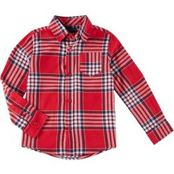 French Toast Little Boys Plaid Button Down Flannel Shirt