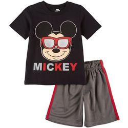 Disney Mickey Mouse Little Boys Sunglasses Shorts Set