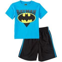 DC Comics Batman Little Boys Bat-Signal Shorts Set
