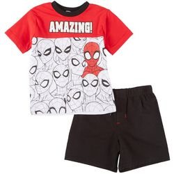 Marvel Spider-Man Little Boys Amazing Shorts Set