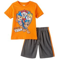 Nickelodeon Paw Patrol Little Boys Pawfect Team Shorts Set