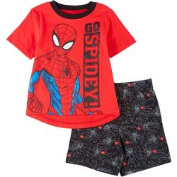 Spider-Man Little Boys 2-pc. Go Spidey Shorts Set