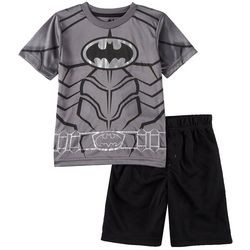 DC Comics Batman Little Boys Chest Logo Shorts Set