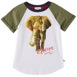 Flapdoodles Toddler Boys Explore Elephant T-Shirt