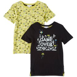 Flapdoodles Toddler Boys 2-pk. Game Over T-Shirts