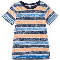 Flapdoodles Toddler Boys Heathered Stripe T-Shirt