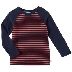 Flapdoodles Little Boys Striped Raglan Long Sleeve T-Shirt