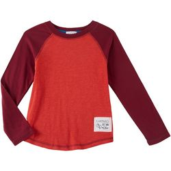 Flapdoodles Little Boys Logo Raglan Long Sleeve T-Shirt