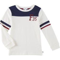 Flapdoodles Little Boys Football Long Sleeve T-Shirt