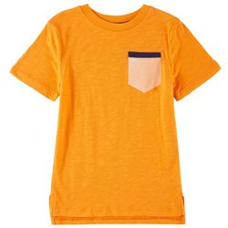 Flapdoodles Little Boys Chest Pocket T-Shirt