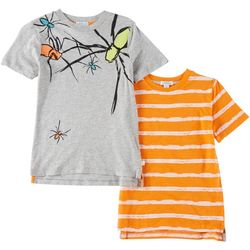 Flapdoodles Little Boys 2-pk. Spiders & Stripes T-Shirts