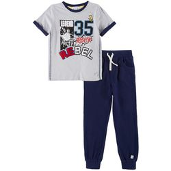 Flapdoodles Little Boys 2-pc. Rebel Jogger Pants Set