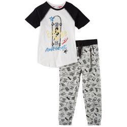 Flapdoodles Little Boys 2-pc. Born Awesome Joggers Set