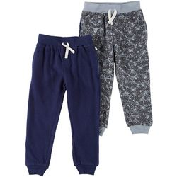 Flapdoodles Toddler Boys 2-pc. Solid & Print Jogger Pants