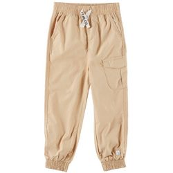 Flapdoodles Little Boys Fearless Solid Poplin Jogger Pants