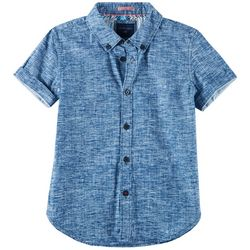 Cactus Boys Little Boys Space Dye Button Down Polo Shirt