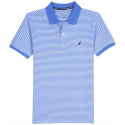 Nautica Little Boys Short Sleeve Striped Polo Shirt