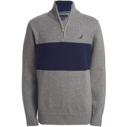 Nautica Little Boys Colorblock Lyon Quarter Zip Sweater