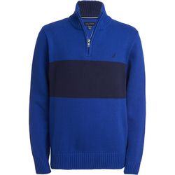 Nautica Little Boys Blue Lyon Quarter Zip Jacket