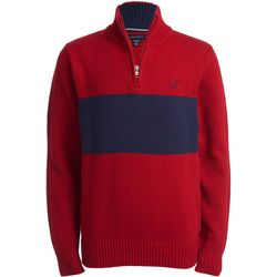 Nautica Little Boys Red Lyon Quarter Zip Jacket